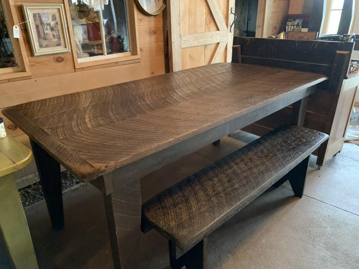 Beautiful, sturdy, and handcrafted Farm Tables and benches are custom made to size, wood, stain, and finish