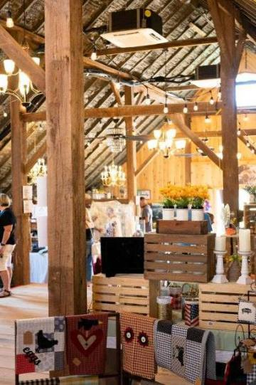 View of a booth at our Market in The Loft at The Destination